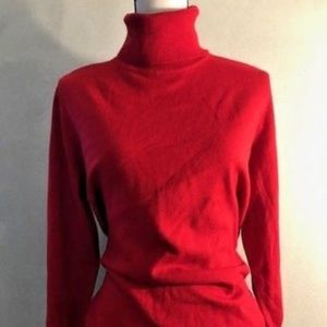 JM Collection Women's Red Turtleneck NEW